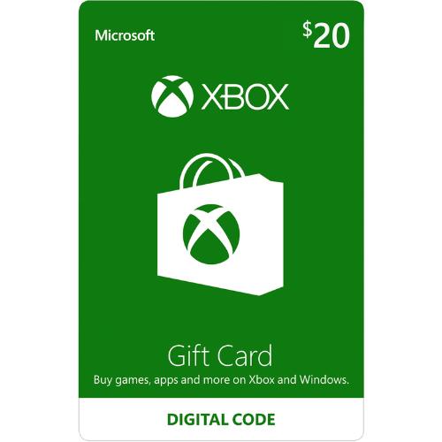 R$ 20,00 Xbox Live Card (BR) Cartão Presente