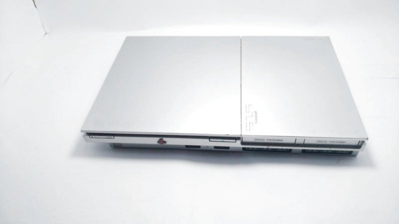 Playstation 2 Slim Prata destravado usado