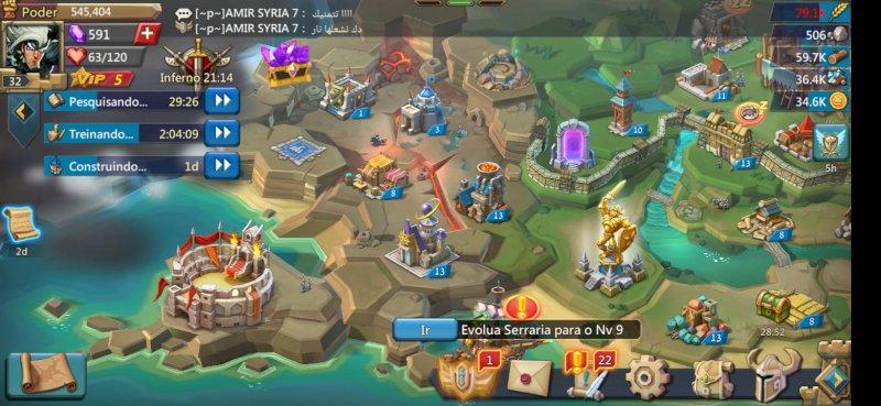 Castelo nivel 14 em uma das melhores guild mundial, quantidade de estoque alta.
