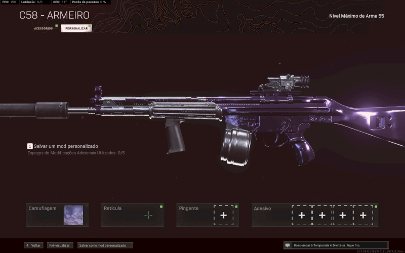 Conta Warzone - DarkMatter + Cold War + Todas as armas meta upadas.
