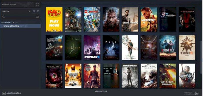 Vendo uma conta da Steam com 51 jogos.