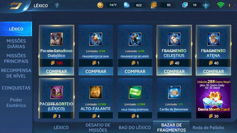 Heroes Evolved lv38 com 50 heróis e 60 skins