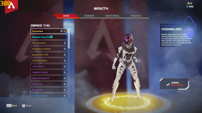 Conta com herança da wraith + skin lendária voidwalker