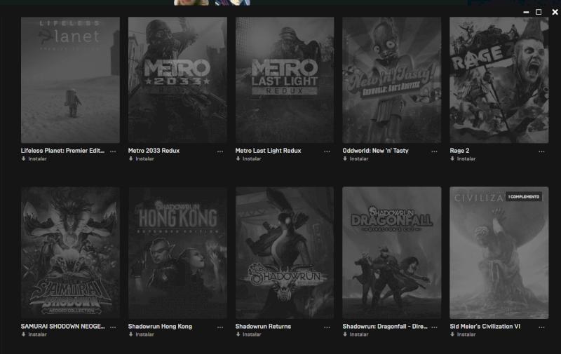 Conta Epic Games com 43 jogos