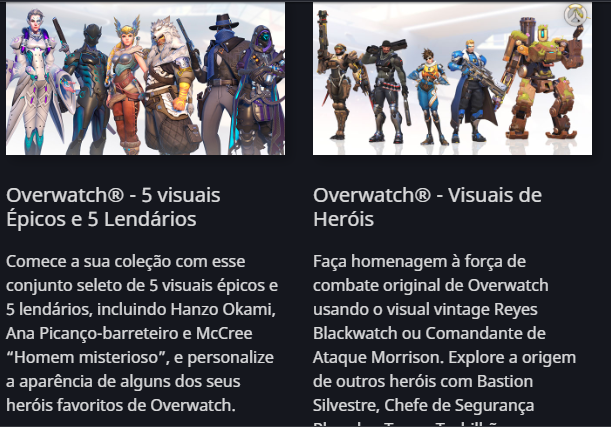 Conta Overwatch legendary edition para PC