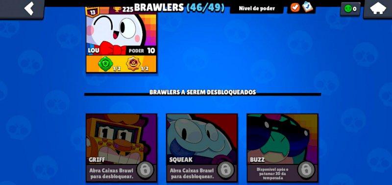 19K troféus, 46 FULL BRAWLERS, várias skins