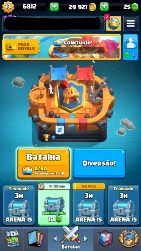 Conta Clash Royale Top Global
