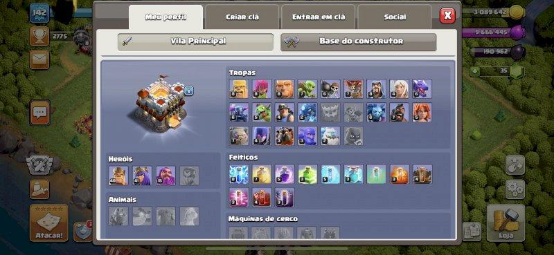 Conta clash do Clans CV 11 SEMI FULL