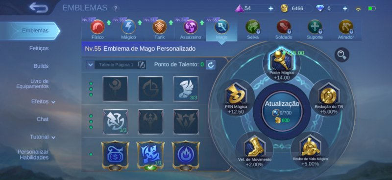 Conta mobile legends magos
