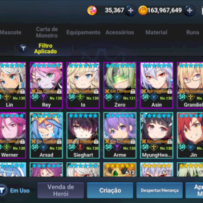 Conta GrandChase Mobile 50% OFF