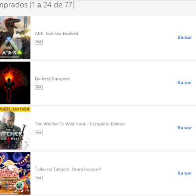 conta PSN com 70 jogos PS4 + PS5
