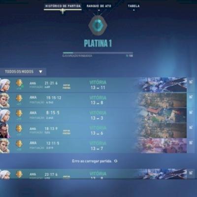 Conta Valorant Platina- Pronta pra jogar