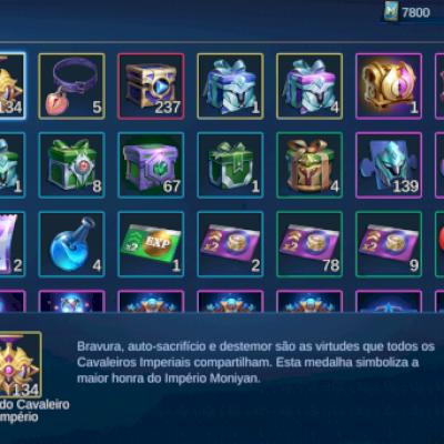 Mobile Legends Bang Bang: conta nível  51 Rank lenda V  101 heróis 186 skins