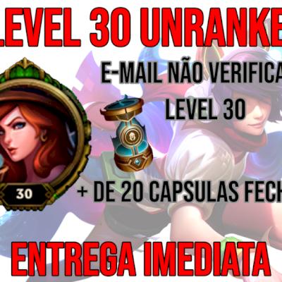 Conta Smurf Unranked LVL 30 com + de 20 Cápsulas