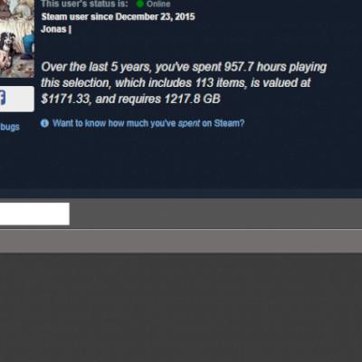 Vendo conta steam com maisde 100 jogos