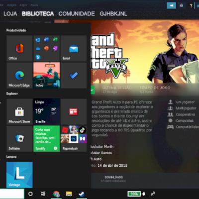 Conta Steam com GTA V