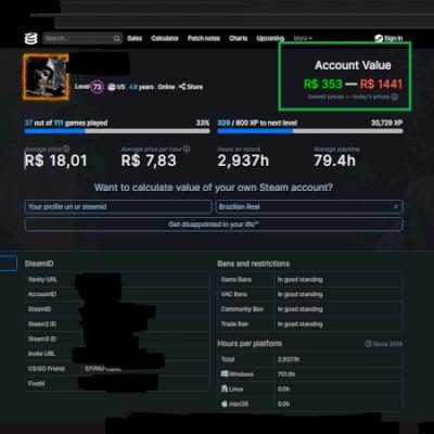 Conta Steam LVL 73, BARATA...