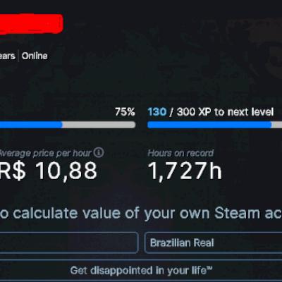 Conta steam +um jogo de 16 reais
