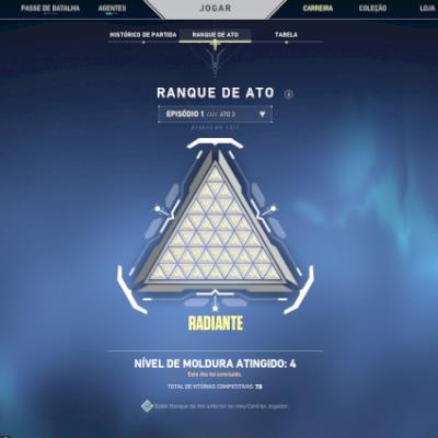 Conta Radiante |+ 1100 reais em skin | Pro Players adicionados