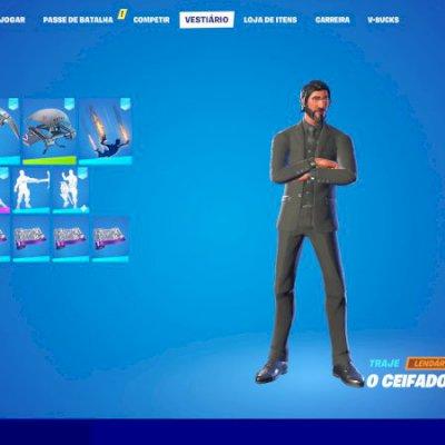 Conta Fortnite com passe season 3 full, 90 skins, salve o mundo e tubarão mako