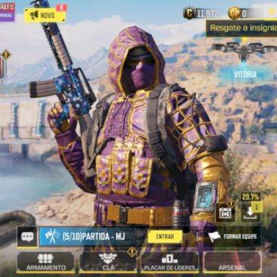Conta  Call of duty mobile com algumas skin de arma,granada, carros, personagem
