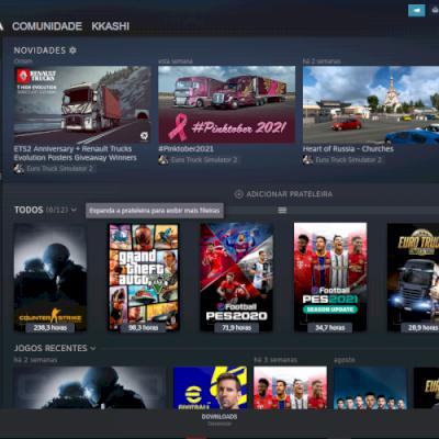 Conta Com CS:GO Prime e alguns adesivos baratos, GtaV, Euro Truck Simulator