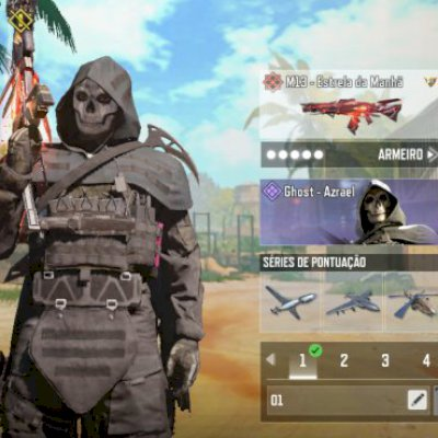 Conta top, com várias skins de passe 1 arma mitica e 1 lendária