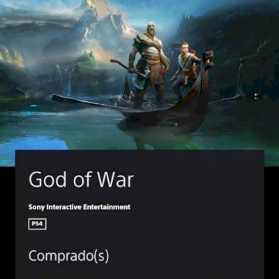 Conta PSN com God Of War 4, Red Dead Redemption 2