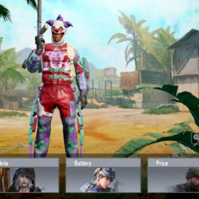 Conta com muitas skins de personagem, armas e granadas, tb tem lendario no mj