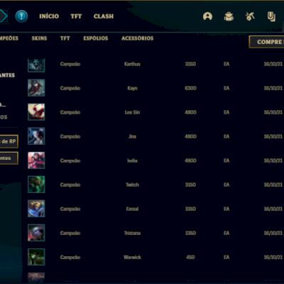 Conta ouro 4 com 2 skins e 24 champs
