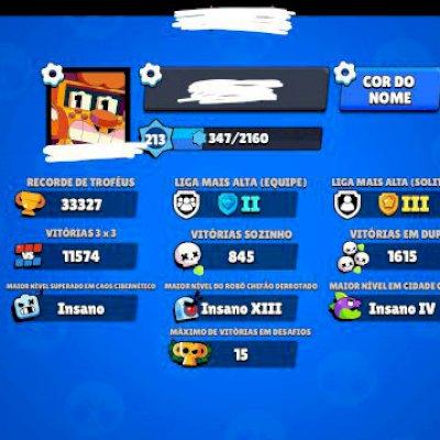 Conta 30k  57 skins  48/51 brawlers faltam apenas Meg, Ash e Buzz  amigos c/+40k